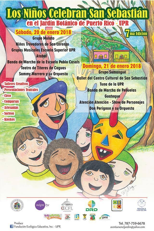Calendatio de Eventos Jardin Botanico durante Fiestas de la Calle San Sebastian