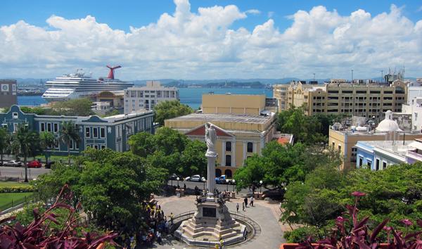 Plaza Colon en Viejo San Juan